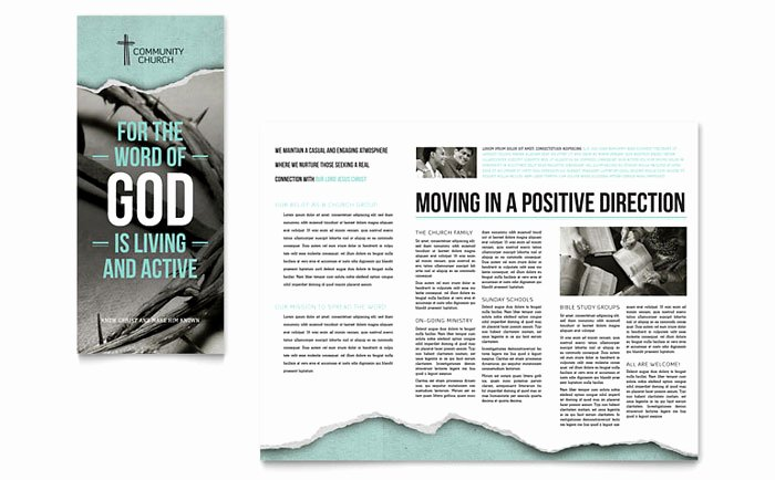 Church Bulletin Templates Microsoft Publisher Fresh Bible Church Brochure Template Design