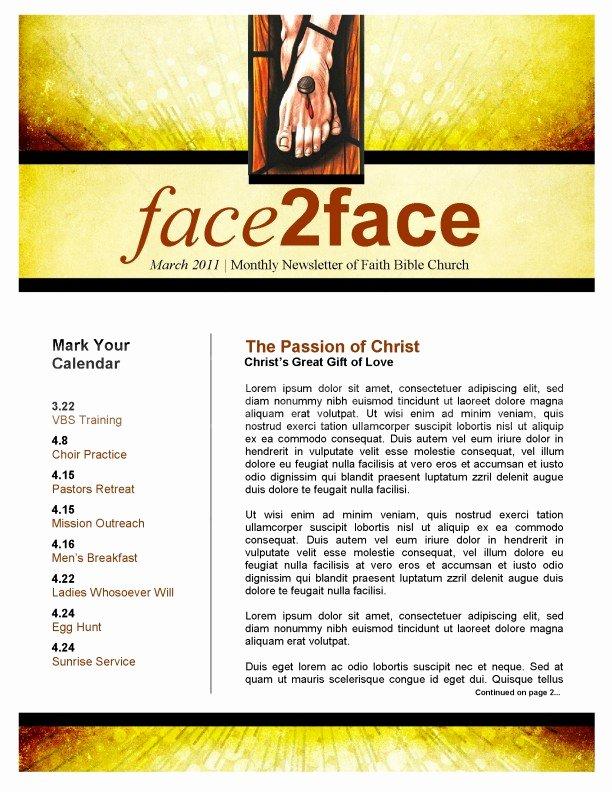 Church Bulletin Templates Microsoft Publisher Inspirational Easter Season Church Newsletter Template