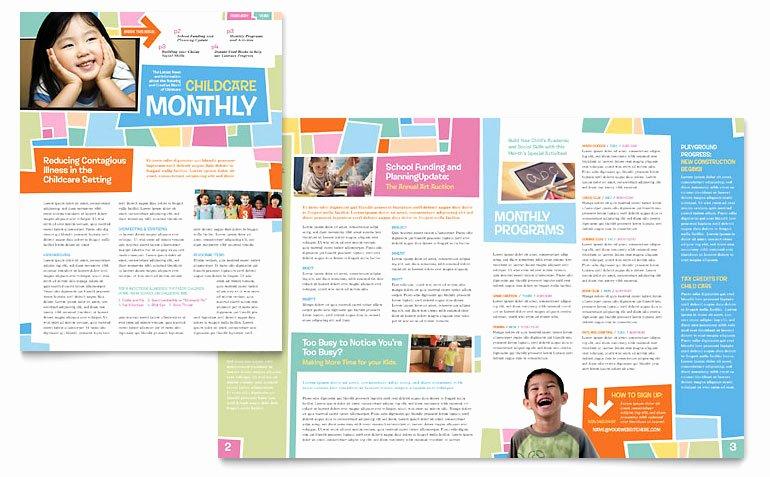 Church Bulletin Templates Microsoft Publisher Lovely Preschool Kids & Day Care Newsletter Template Word