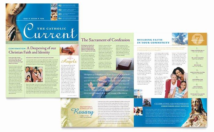 Church Bulletin Templates Microsoft Publisher Luxury Catholic Parish and School Newsletter Template Design