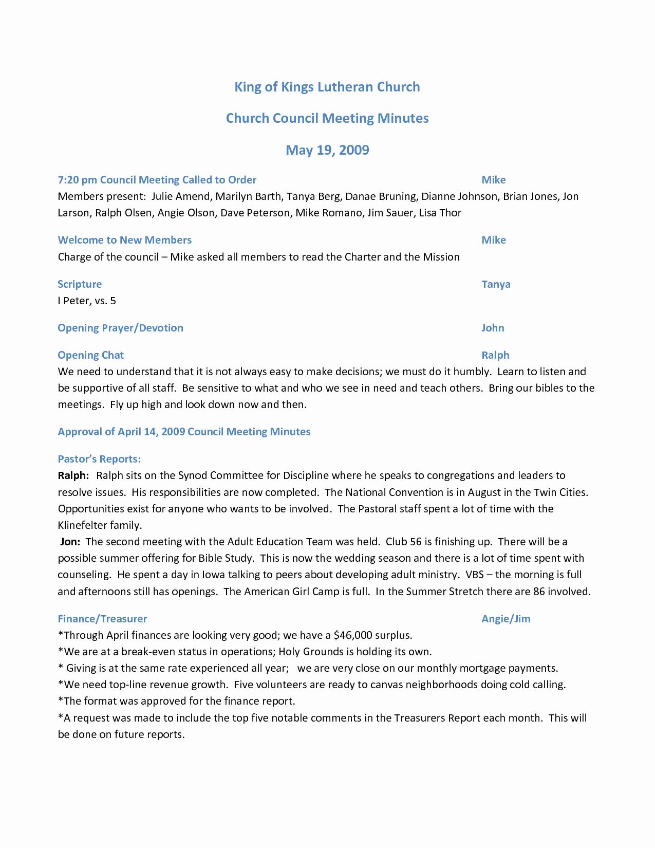 Church Business Meeting Minutes Template Beautiful Best S Of Pentacostal Church Meeting Minutes Template Sample Church Meeting Minutes