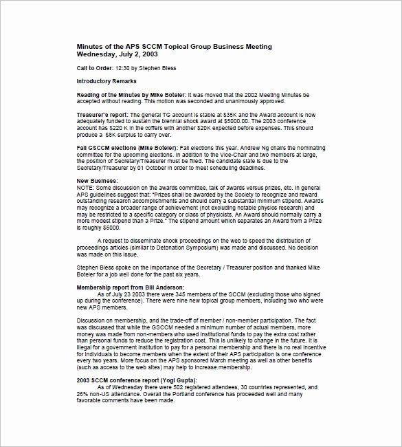 Church Business Meeting Minutes Template Best Of Business Meeting Minutes Template 12 Free Sample Example format Download