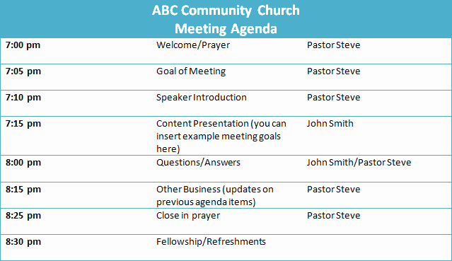 Church Business Meeting Minutes Template Fresh 5 Tips for A Successful Church Business Meeting