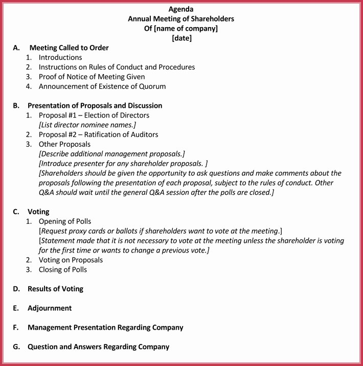 Church Business Meeting Minutes Template Fresh Business Meeting Agenda Templates 9 Best Samples In Pdf & Word