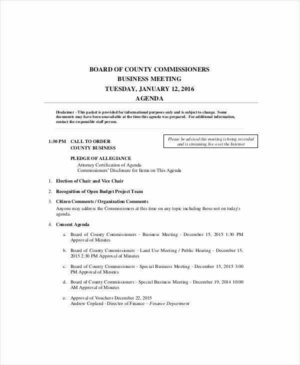 Church Business Meeting Minutes Template Inspirational 10 Business Meeting Agenda Templates – Free Sample Example format Download