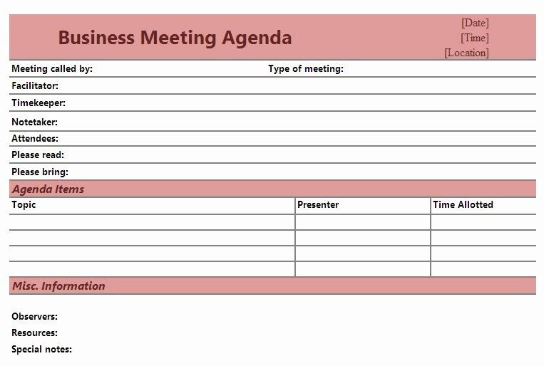 Church Business Meeting Minutes Template Inspirational Best S Of Church Meeting Agenda Template Printable Church Business Meeting Agenda