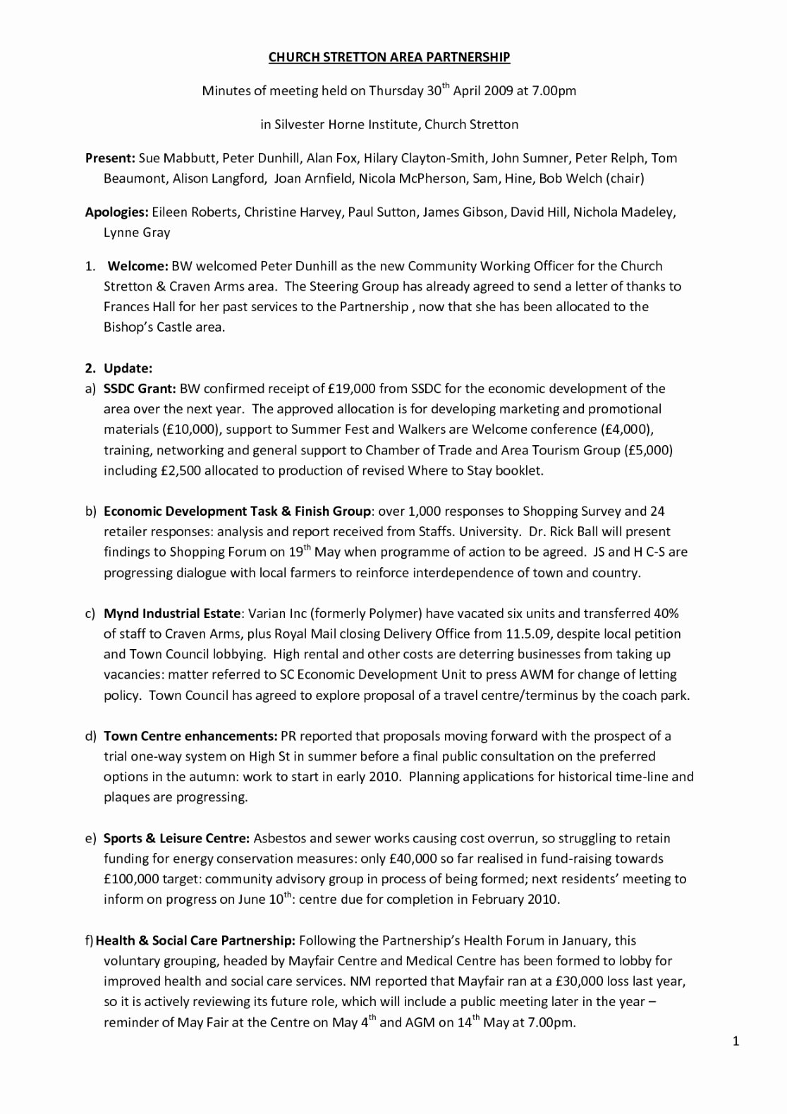 Church Business Meeting Minutes Template New Church Business Meeting Minutes Template