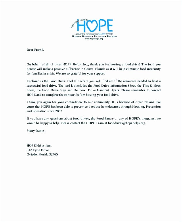 Church Donation Letter for Food Beautiful Thank You Letter for Donation Tips On Writing