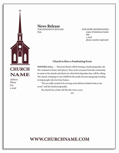 Church Donation Letter for Food Fresh the Church Fundraising Guide