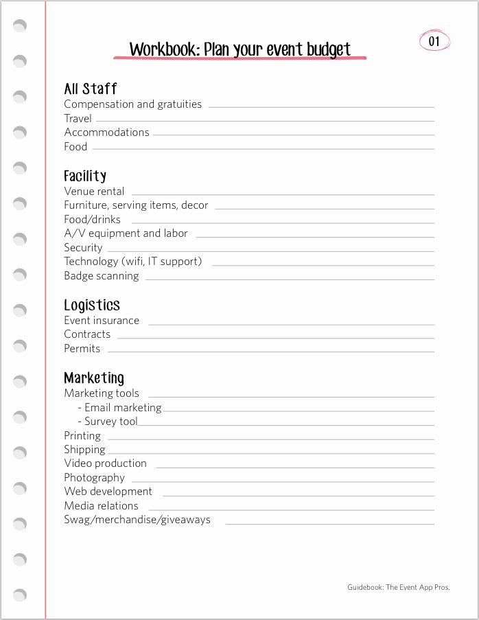 Church event Planning Worksheet Awesome We Found All the Best event Bud Templates