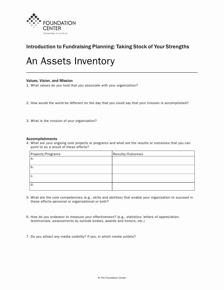 Church event Planning Worksheet Lovely Diversify Your Fundraising Worksheets
