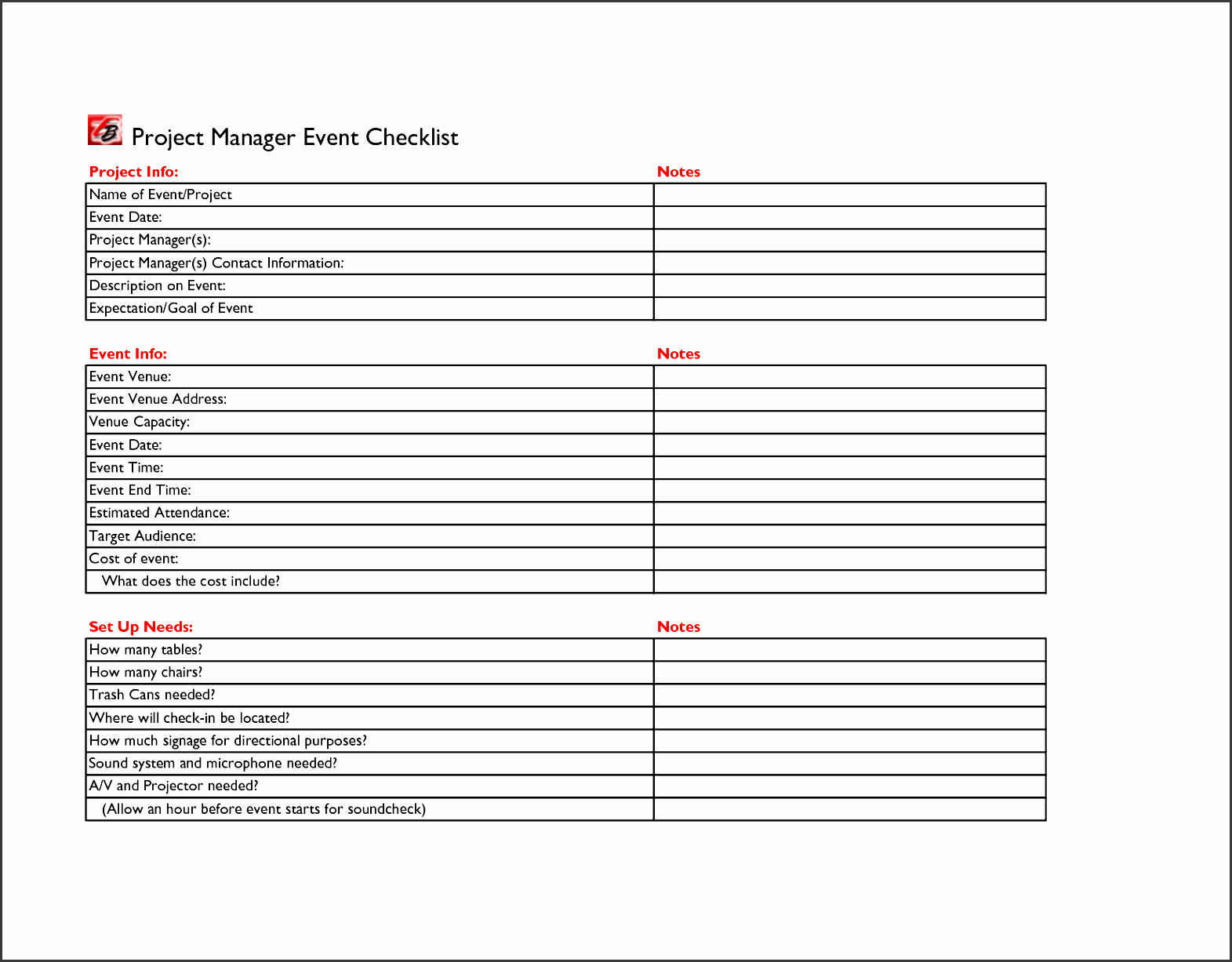 free church event planning checklist template to
