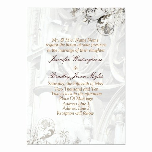 Church Invitation Cards Templates Fresh Church Wedding Invitations Templates