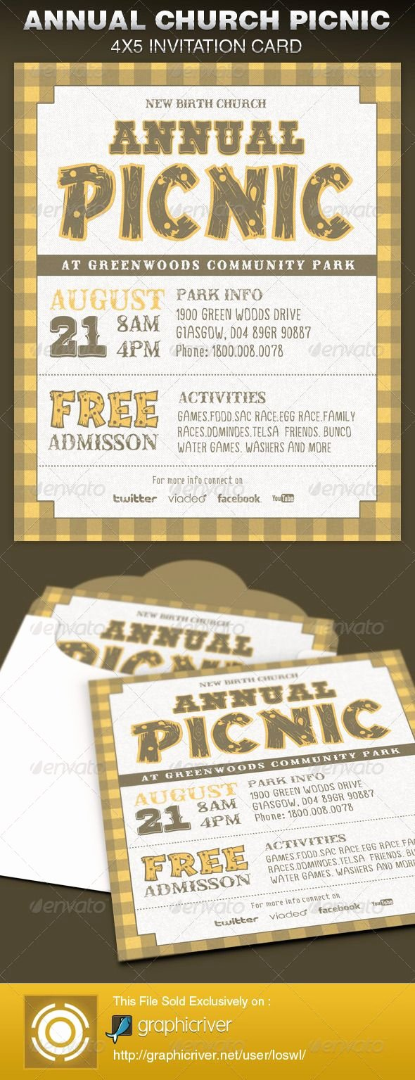 Church Invitation Cards Templates Inspirational Best 25 Church Picnic Ideas On Pinterest