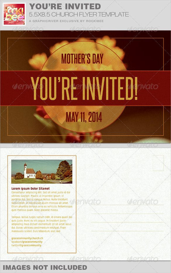 Church Invitation Cards Templates Lovely 20 Church Postcard Templates – Free Sample Example format Download