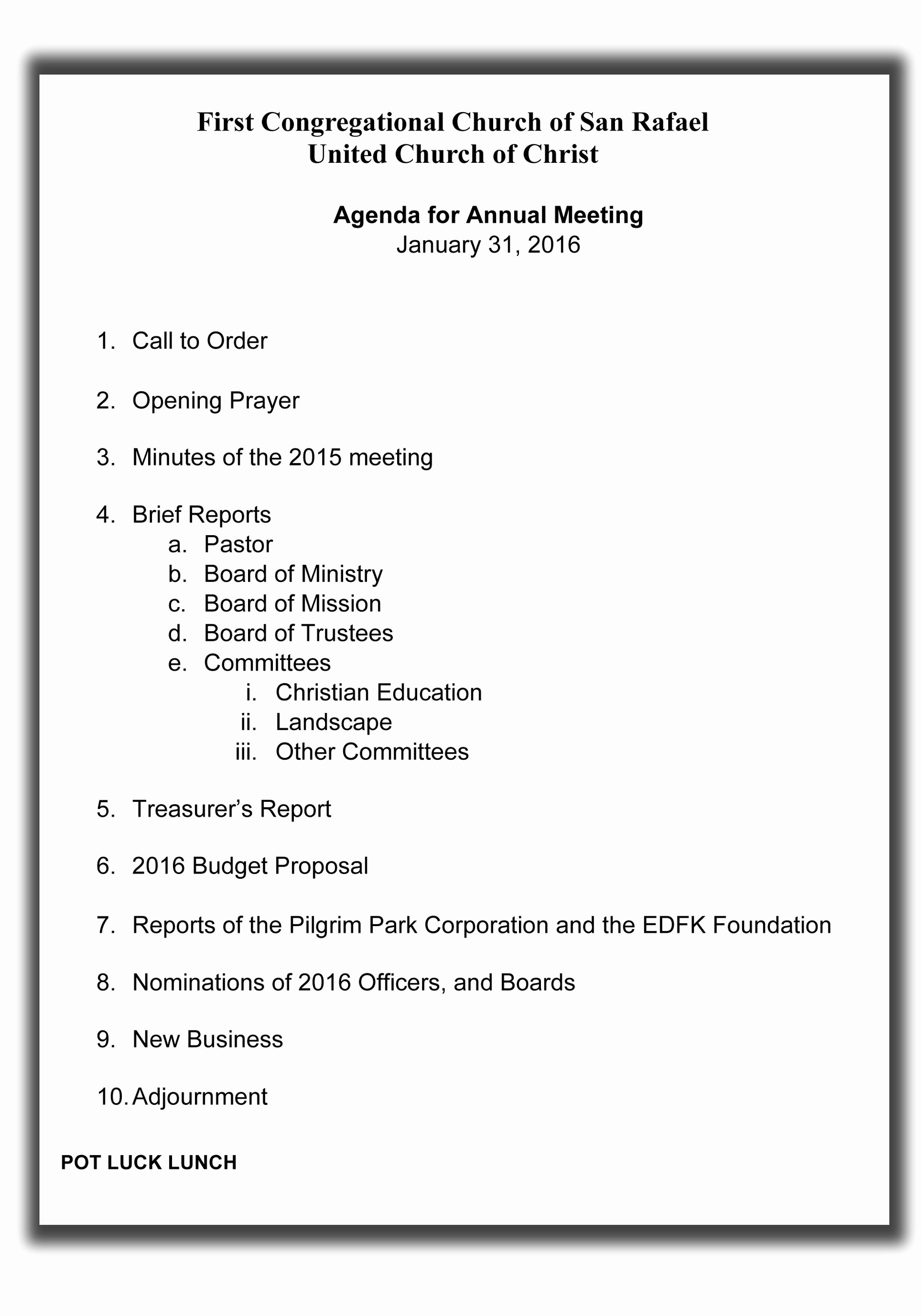Church Meeting Minutes Template Beautiful Opening Prayer for Church Business Meeting