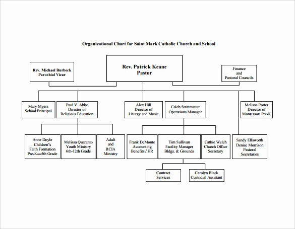 Church organizational Chart Template Luxury Sample Church organizational Chart Template 13 Free