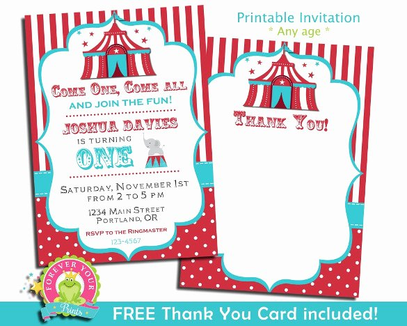 Circus Invitation Template Free Awesome 27 Carnival Birthday Invitations Free Psd Vector Eps