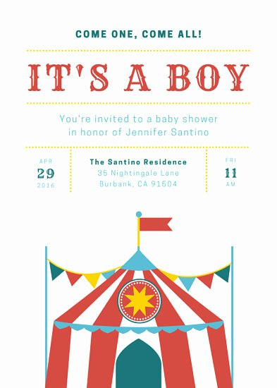 Circus Invitation Template Free Awesome Circus Invitation Templates Canva