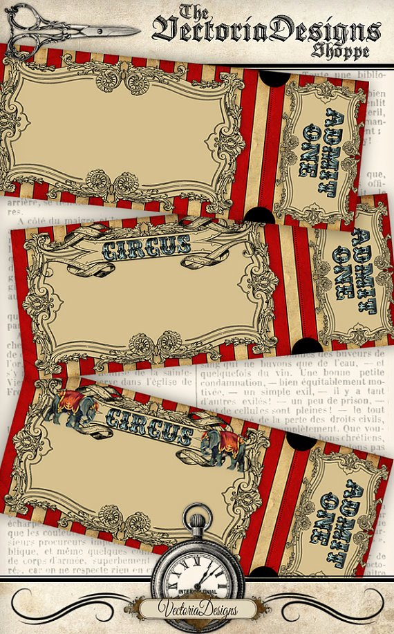 Circus Invitation Template Free Beautiful Circus Invitation Tickets Circus Party Printable Paper