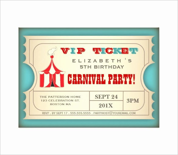 Circus Invitation Template Free Fresh Circus Party Invitation Template – 23 Free Jpg Psd