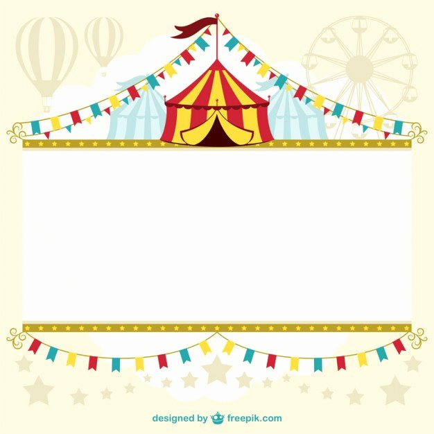 Circus Invitation Template Free Fresh Circus Tent Template Design Vector