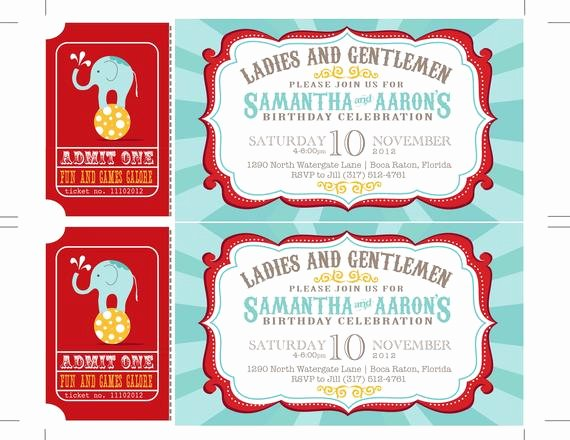 Circus Invitation Template Free Lovely Reserved Carnival Invitations Circus Invitations Ticket