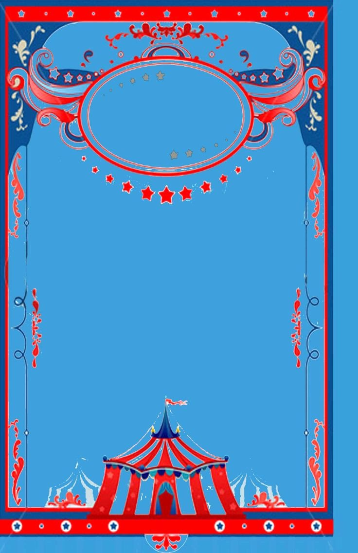 Circus Invitation Template Free Luxury Circus theme Background Template Baby Shower