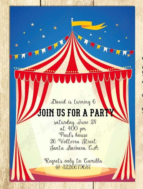 Circus Invitation Template Free Unique 23 Psd Carnival Invitation Templates Psd Vector Eps