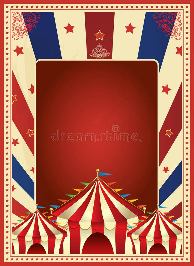 Circus Poster Template Free Download Awesome Vintage Carnival Poster Template Vector Mardi Gras Circus Illustration Stock Vector
