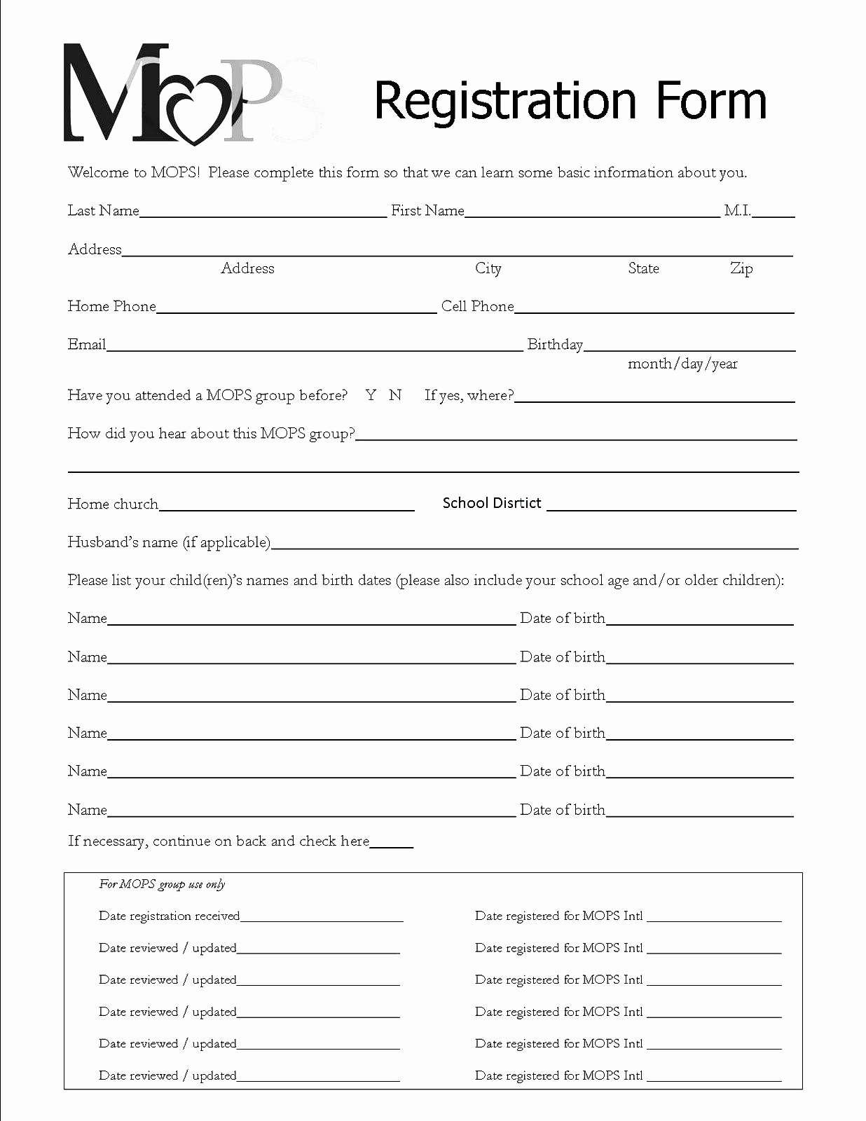 Class Registration form Template Awesome Registration forms Template Free