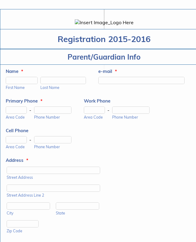 Class Registration form Template Awesome Student Enrollment form Template