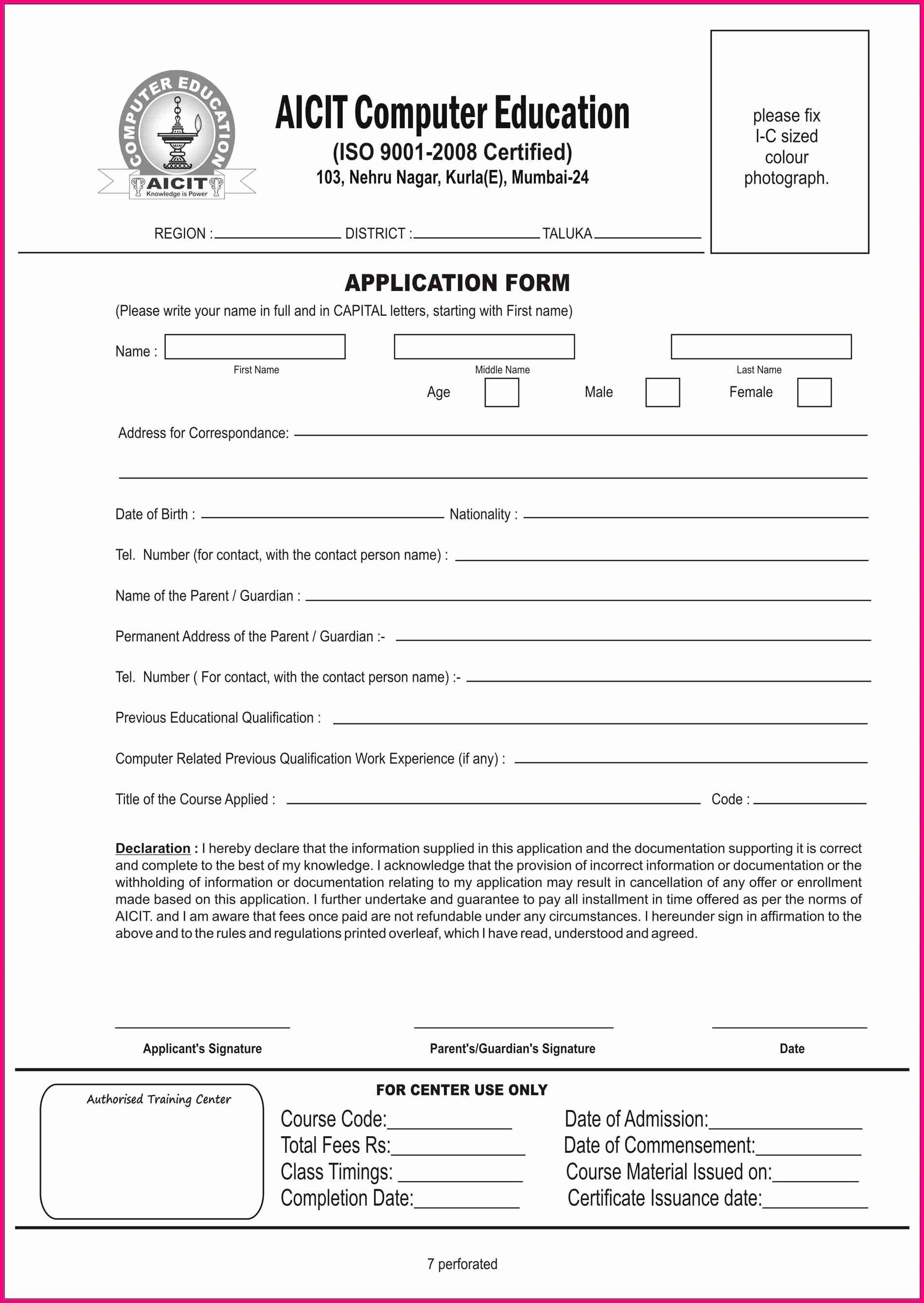 Class Registration form Template Beautiful Course Enrolment form Template Sampletemplatez