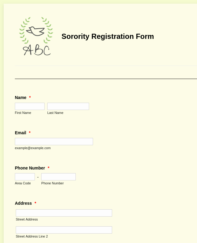 Class Registration form Template Fresh Student Enrollment form Template