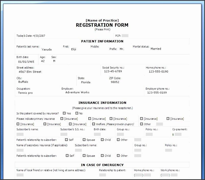 Class Registration form Template Lovely 7 Class Registration form Template Word Sampletemplatess Sampletemplatess