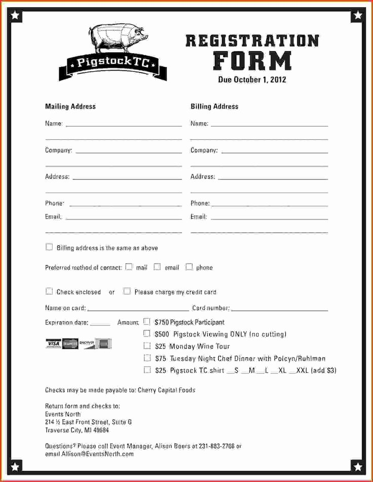 Class Registration form Template Lovely Best 25 Registration form Sample Ideas On Pinterest