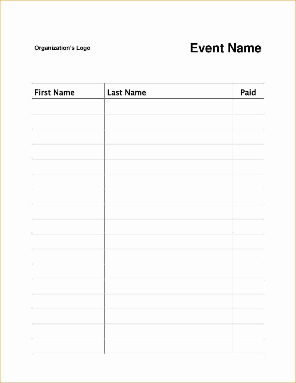 Class Registration form Template Luxury event or Class Workshop forms A Sign Up Sheet Template Word Simple Signup Sheet with Room for