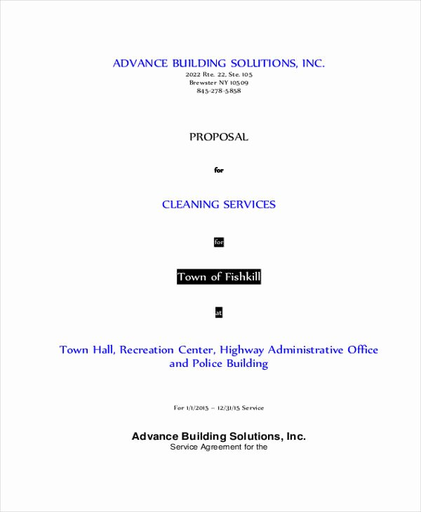 Cleaning Proposal Template Pdf Elegant 6 Cleaning Business Proposal Templates Word Pdf