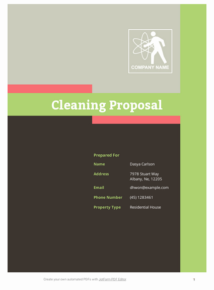 Cleaning Proposal Template Pdf Elegant Cleaning Proposal Template Pdf Templates