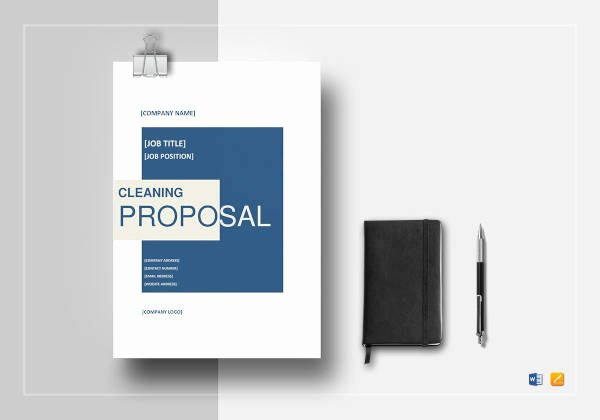 Cleaning Proposal Template Pdf Elegant Free 12 Cleaning Proposal Examples and Samples In Pdf
