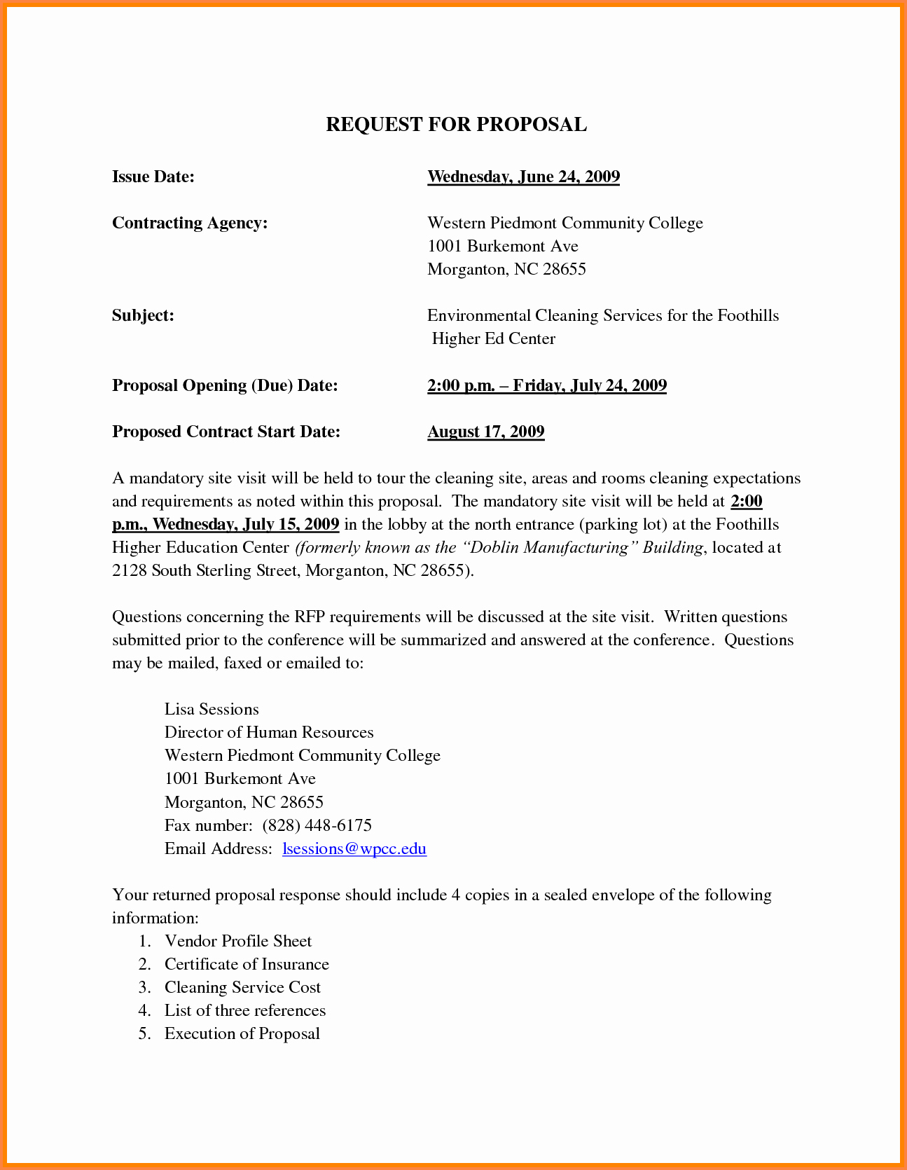 2 janitorial business proposal sample