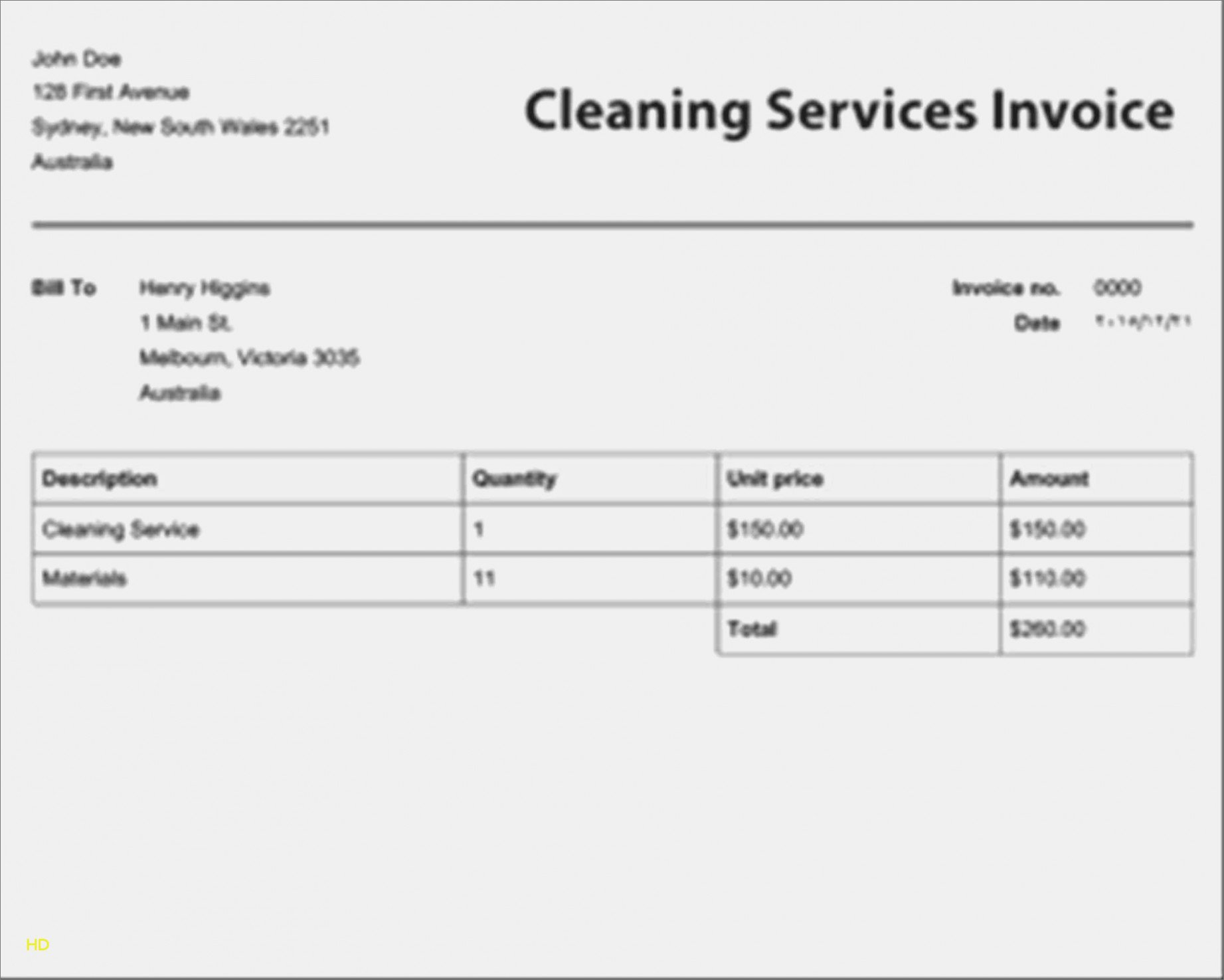 Cleaning Service Invoice Template Inspirational Learn the Truth About Free