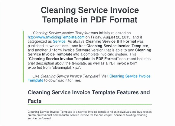 Cleaning Services Invoice Template Lovely Simple Invoice Template Word