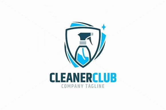 Cleaning Services Logo Templates Elegant Cleaner Club Logo Template by Liveatthebbq On Creativemarket