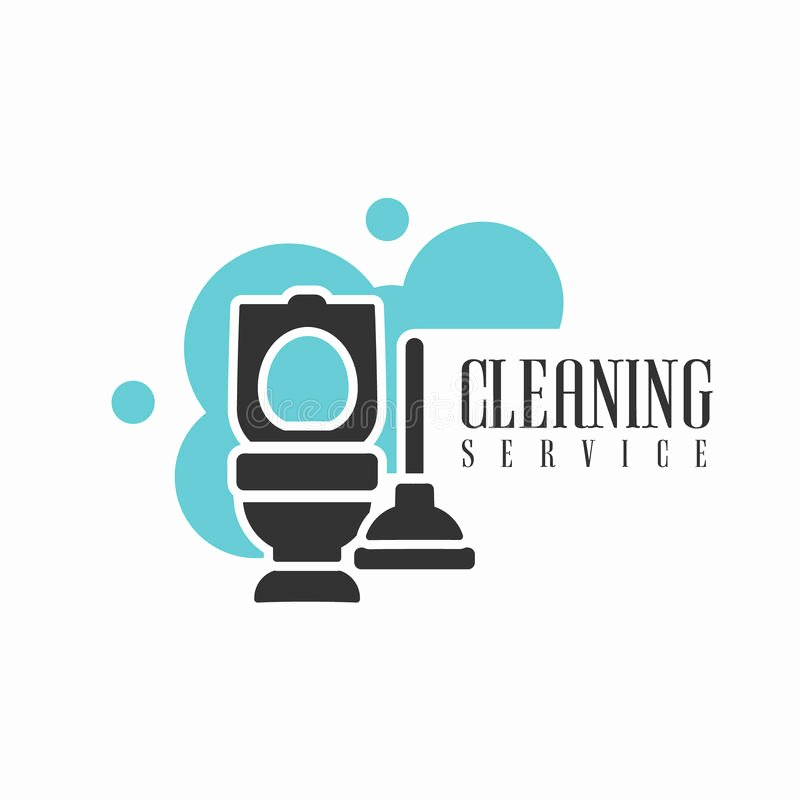 Cleaning Services Logo Templates Fresh House and Fice Cleaning Service Hire Logo Template with toilet and Plunger for Professional