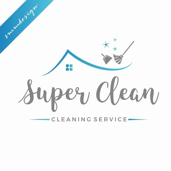 Cleaning Services Logo Templates Lovely Cleaning Logo Design Premade Logo Cleaning Service House