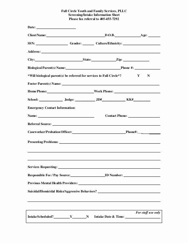 Client Referral form Template Inspirational Fcyfs Referral form