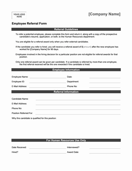 Client Referral form Template Lovely Letters Fice