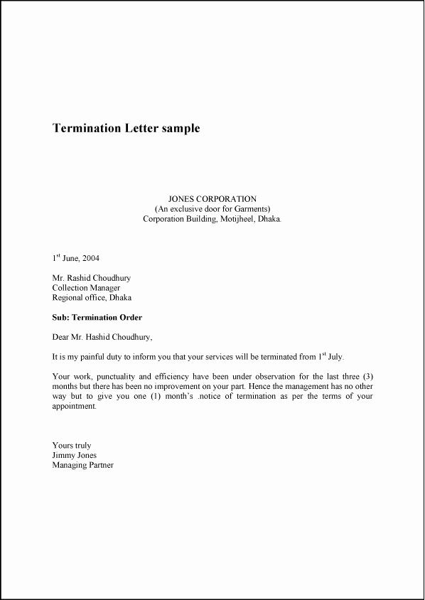 Client Termination Letter Template Best Of Termination Letter