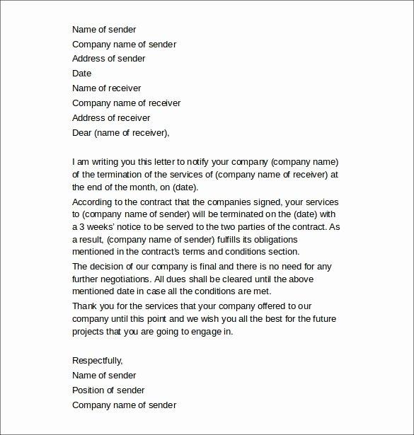 Client Termination Letter Template Luxury 11 Termination Of Services Letters Doc Apple Pages Google Docs
